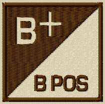 BLOOD TYPE VELCRO PATCH