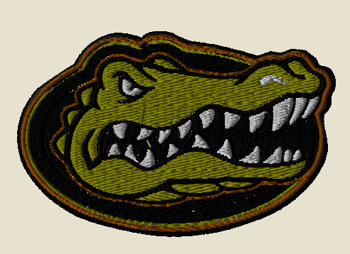 florida gators tactical sports patch with velcro