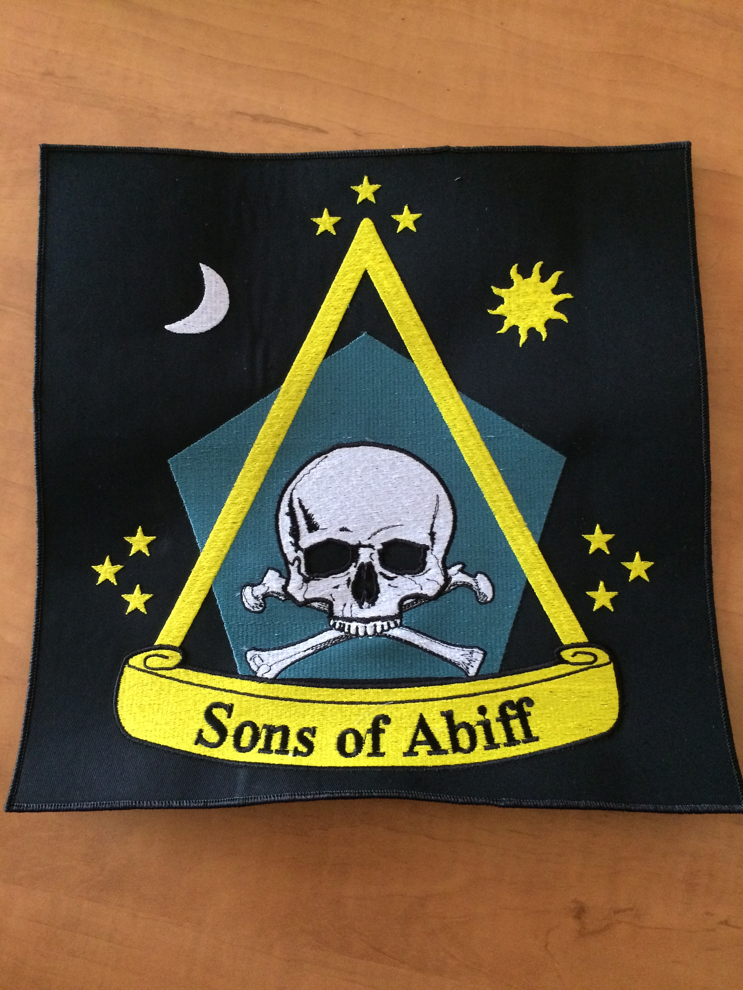 sons of Abiff Patch final stitch out