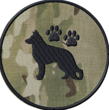 K9 police patch team template with multicam background