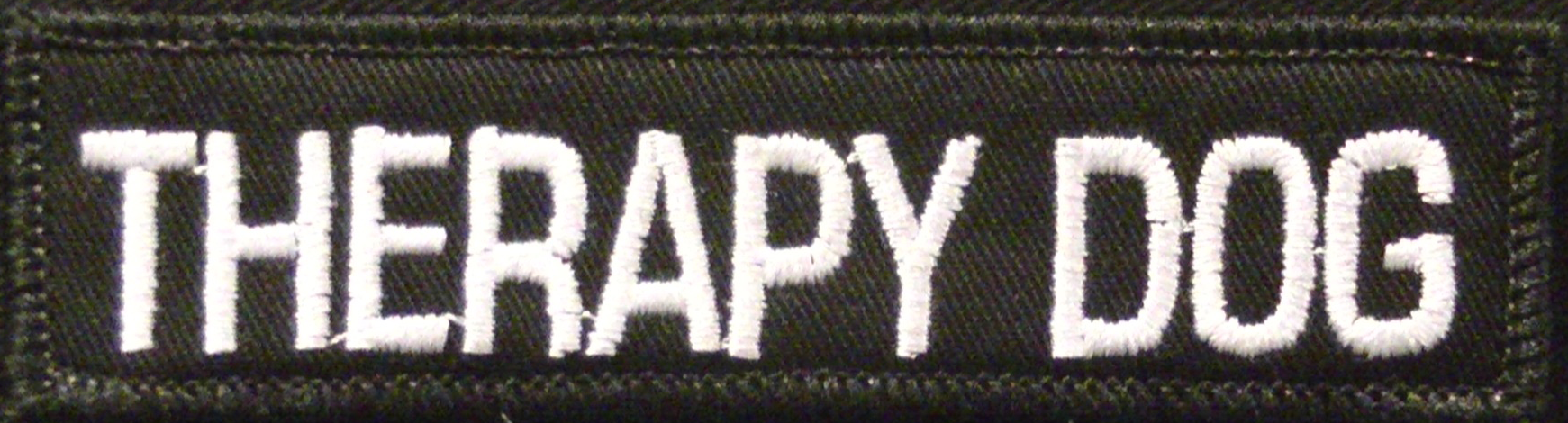 custom therapy dog patch