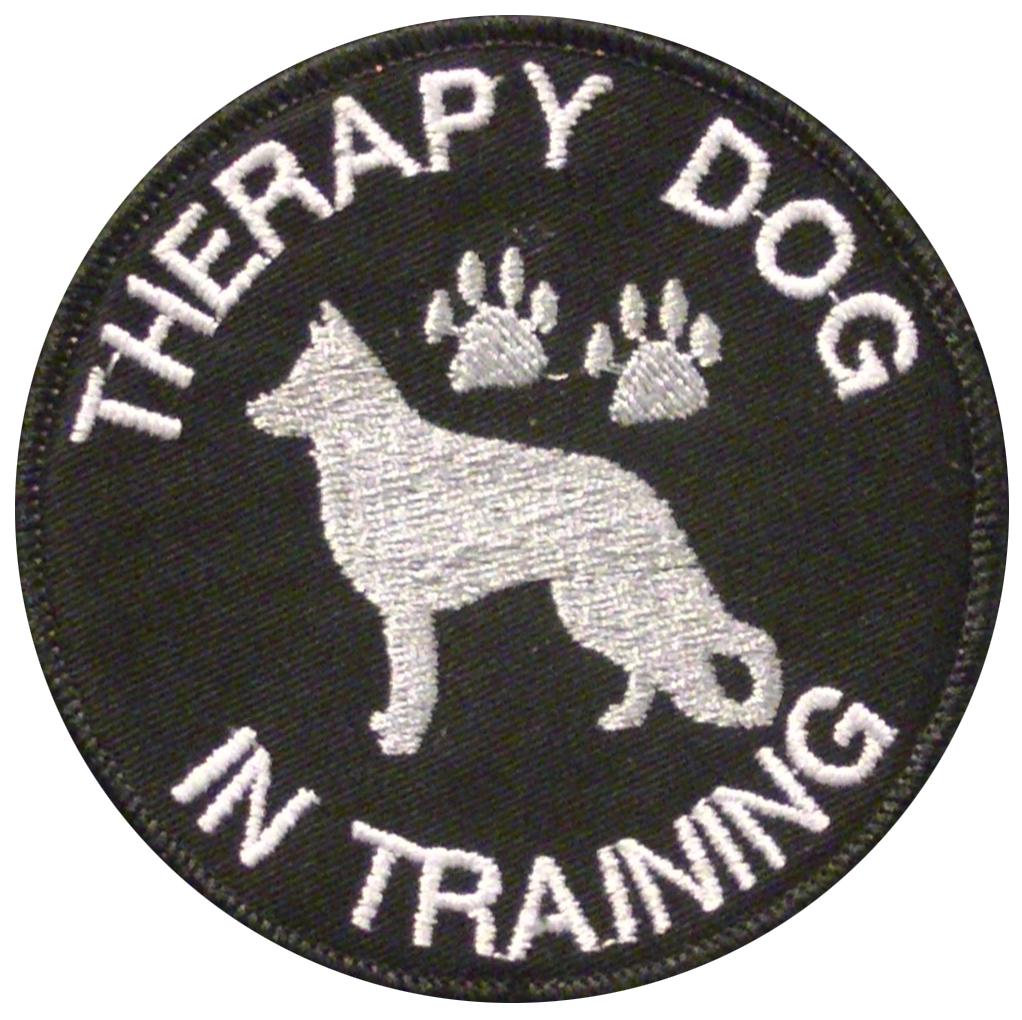 custom working dog patch with k9 silhouette