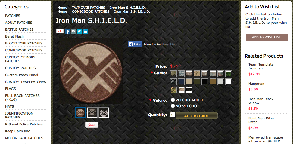 how to order custom patches at OMLpatches.com