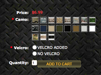 Custom Patch Options at OMLpatches.com