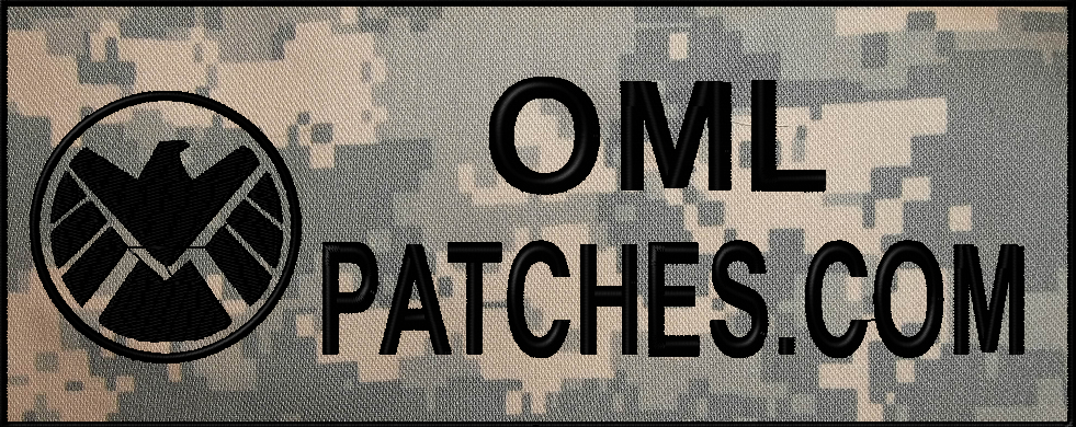full back patches for military, police and K9