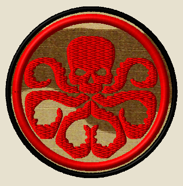 CUSTOM MORALE PATCH HYDRA 1 RED THREAD