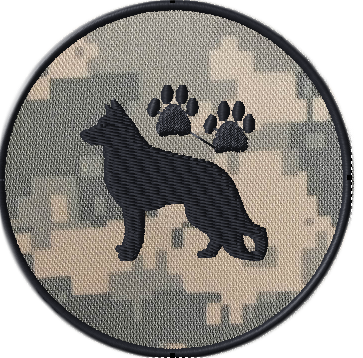 K9 police patch team template in acu