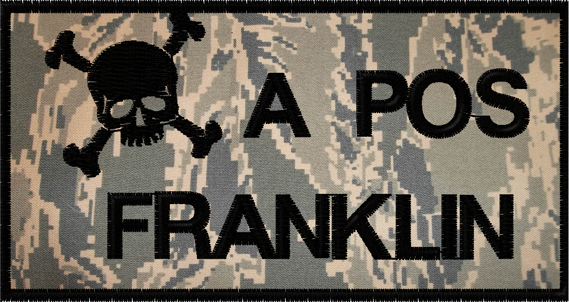 battle patch with a custom designed logo